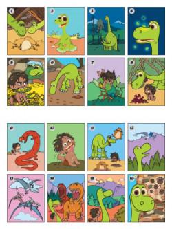 Добрият динозавър: Залепи и оцвети 1