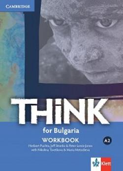 Think for Bulgaria: ниво А2: Учебна тетрадка по английски език за 8. клас + CD