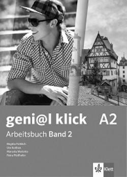 geni@l klick: ниво A2: Учебна тетрадка №2 по немски език за 8. клас + CD