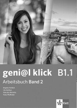 geni@l klick: ниво B1.1: Учебна тетрадка №2 по немски език за 8. клас + CD