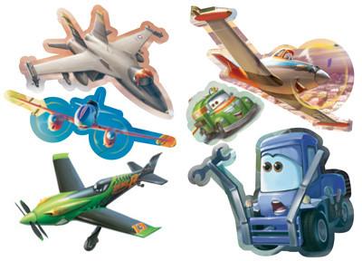 Самолети: Чети, оцвети, залепи!